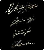 Handtekening schrijven set — Stockvector