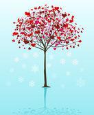 Christmas tree vector background — Stock Vector
