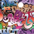 Stock Vector: Graffiti urban background seamless