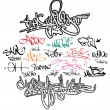 Graffiti tags urban signature — Stock Vector