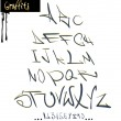 Graffiti font alphabet, abc letters — Stock Vector