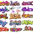 Graffiti urban art vector set — Stock Vector #7796731