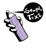 Graffiti spray can — Stock Vector