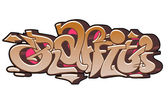 Arte urbano graffiti — Vector de stock