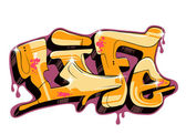 Graffiti urban art — Vector de stock