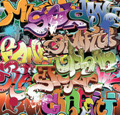 Graffiti urban background seamless — Stock Vector