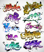 Graffiti urban art vector set — Stock vektor