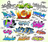 Graffiti urban art vector set — Stock Vector