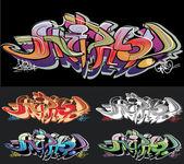 Graffiti urban art — Stock Vector