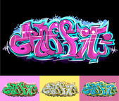 Graffiti urban art — Stock Vector