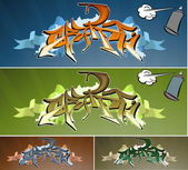 Graffiti wall — Stock Vector
