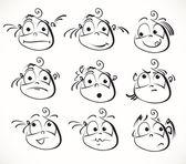 Face cartoon vector icon — Stock Vector