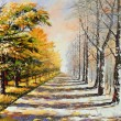 Allegory on theme winter-autumn — Stockfoto