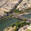 Kind to Paris from Tour d&#039;Eiffel height - Stock Photo
