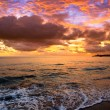 Tropical sunset on the beach — Foto Stock