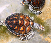 Sea turtles in nursery, Thailand — Stock Photo