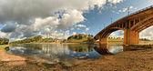 Kind on the river Zapadnaya Dvina, Vitebsk, Belarus — Stock Photo