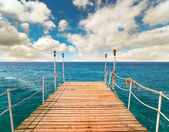 Pier in the sea, Turkey — Stock Photo