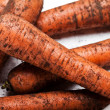 Stock Photo: Carrot vegetable heap