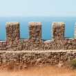 Sea and sky view from Alanya castle wall — Stock Photo
