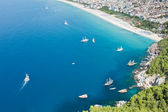Cleopatra sand beach resort of Turkey Alanya — Stock Photo