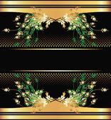 背景与黄金饰品 — 图库矢量图片