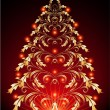 Vector de stock : Christmas fur-tree
