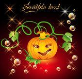 Funny halloween pumpkin — Stock Vector