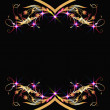 Background with golden ornament - Stock vektor