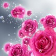 Roses and bubbles — Stock Photo