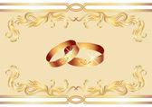 Wedding ring — Stock Vector