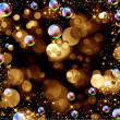 Stock Photo: Bokeh, stars and bubbles