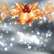Christmas bells and bokeh — Imagen vectorial