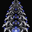 Stock vektor: Christmas fur-tree