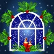 Christmas window — Vector de stock #7714299