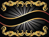 Arka plan ile altın süsleme — Stok Vektör