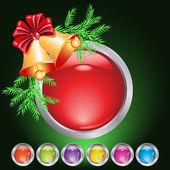 Noel web düğmesi — Stok Vektör