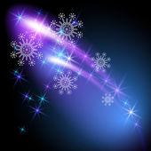 Płatki śniegu i pozdrawiać — Wektor stockowy