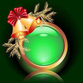 Christmas web button — Stock Vector