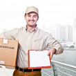Delivery man worker — Stock Photo #6801592