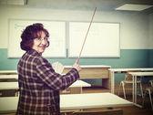 Usmívající se učitel — Stock fotografie