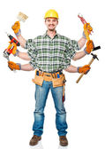 Multi handyman — Stock Photo