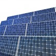 Solar panel isolated - Stock Photo