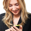 Woman with mobile — Stock Photo