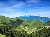 Alpine panoramic view of mountains in Taiwan — Stock Photo