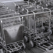 Airport Luggage Carts - Stock Photo
