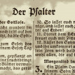 Faded Old German Bible Page — Stock Photo