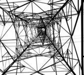 Large Electricity Powermast — Stock Photo