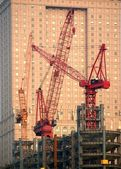 Modern Construction with Cranes — Stock Photo