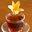 Tea and flower - Stock Photo
